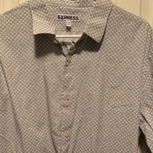 Express Shirts - Express Extra Slim Long Sleeve Dress Shirt